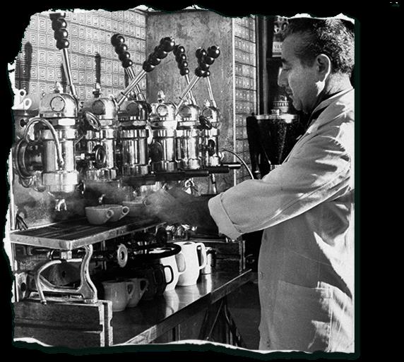 Příprava a servírování italské kávy