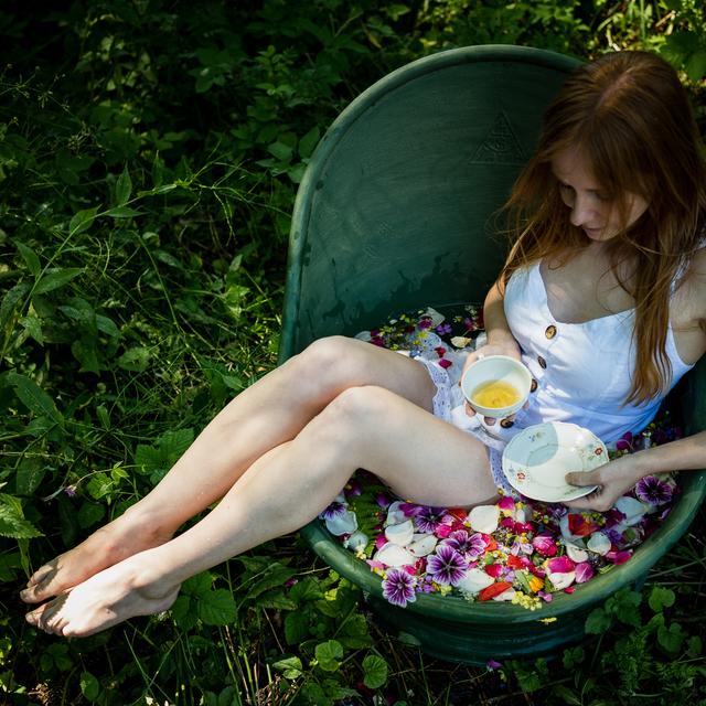Koupel v květech