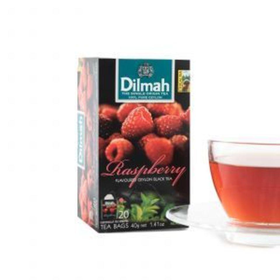 Lákavá vůně zralých malin nádherně dochutí jemný černý čaj a dodá mu letně osvěžující tón.