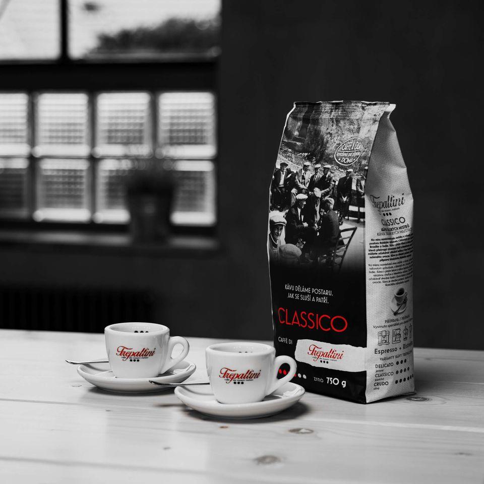 Obrázek 1 produktu TREPALLINI CLASSICO káva zrnková 750 g