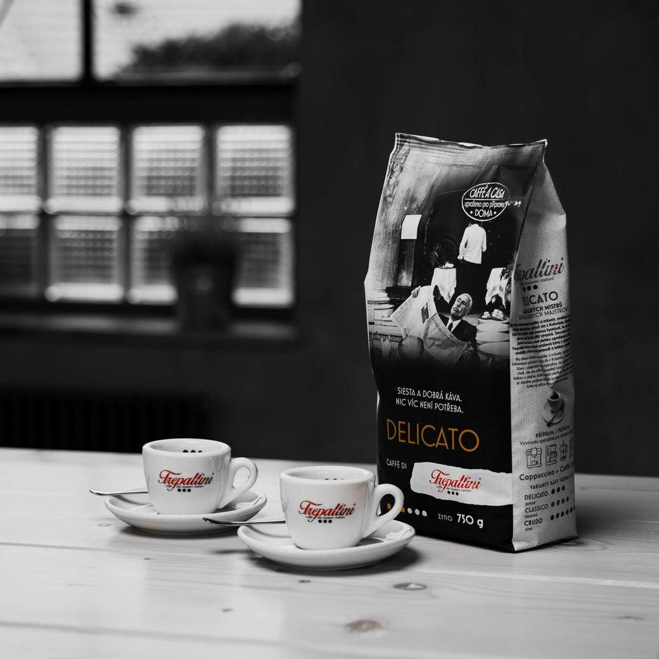 Obrázok 1 produktu TREPALLINI DELICATO káva zrnková 750 g