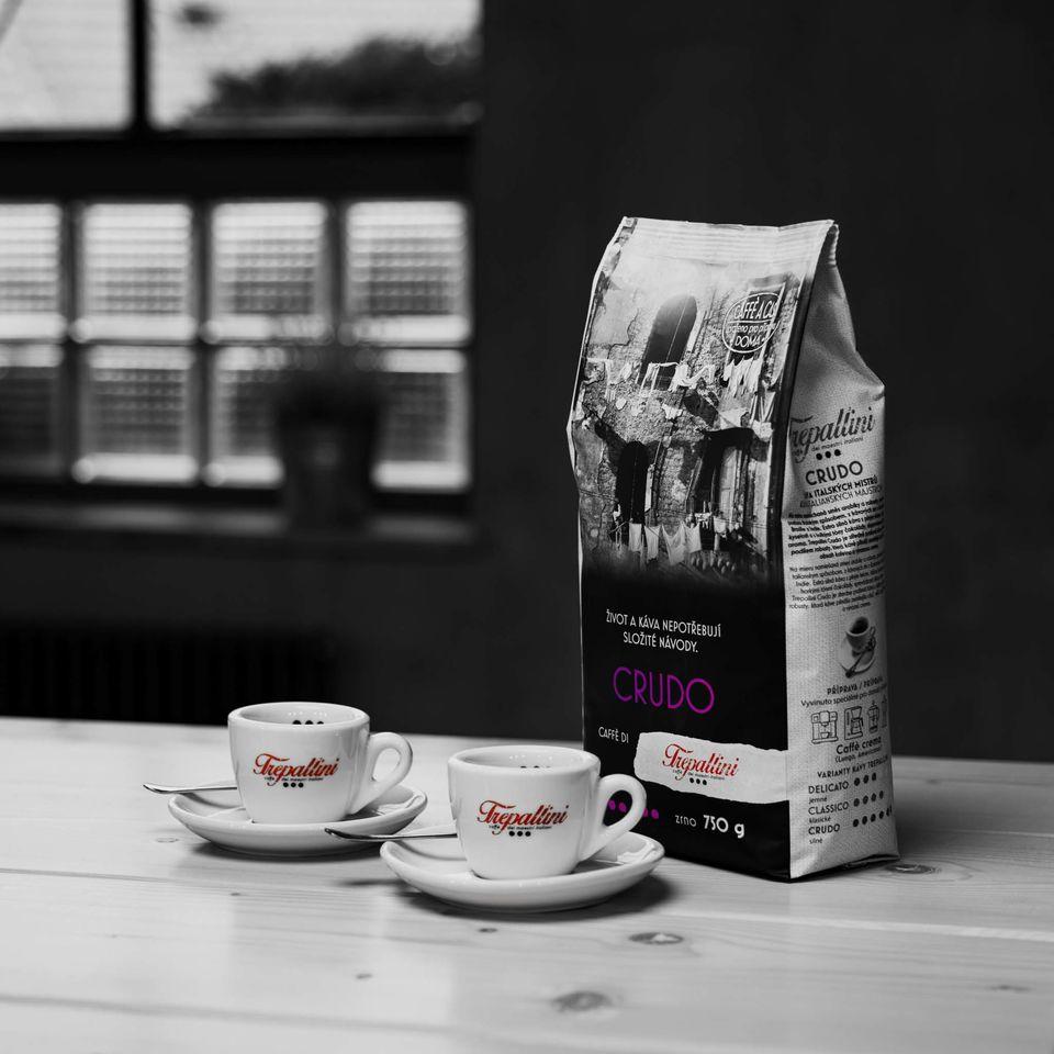 Obrázek 1 produktu TREPALLINI CRUDO káva zrnková 750 g