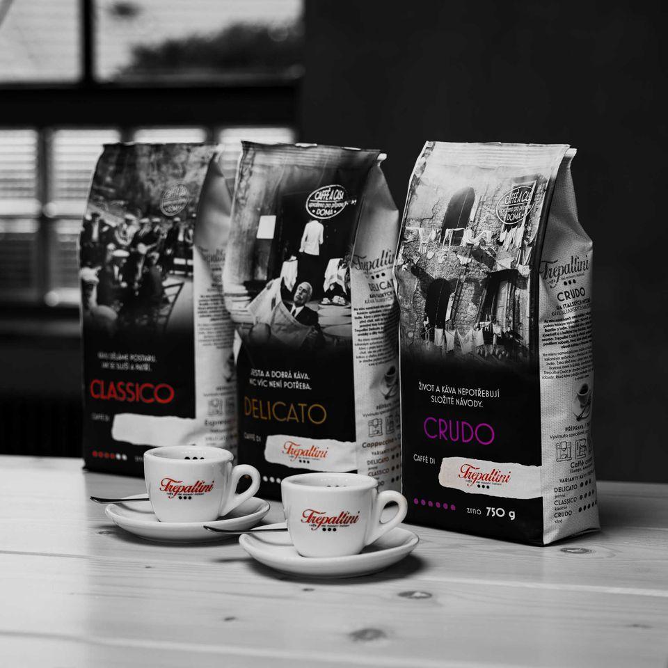 Obrázek 2 produktu TREPALLINI CRUDO káva zrnková 750 g