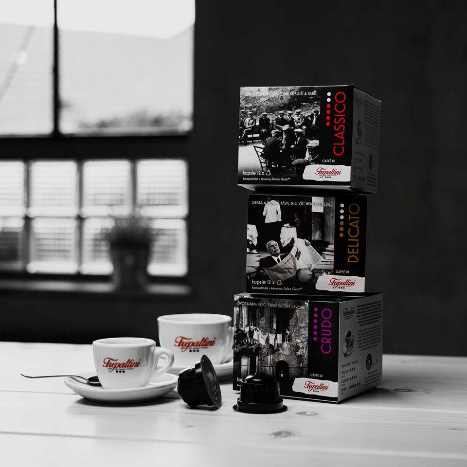 Obrázok 2 produktu TREPALLINI CRUDO kapsuly pre kávovary Dolce Gusto 12 ks