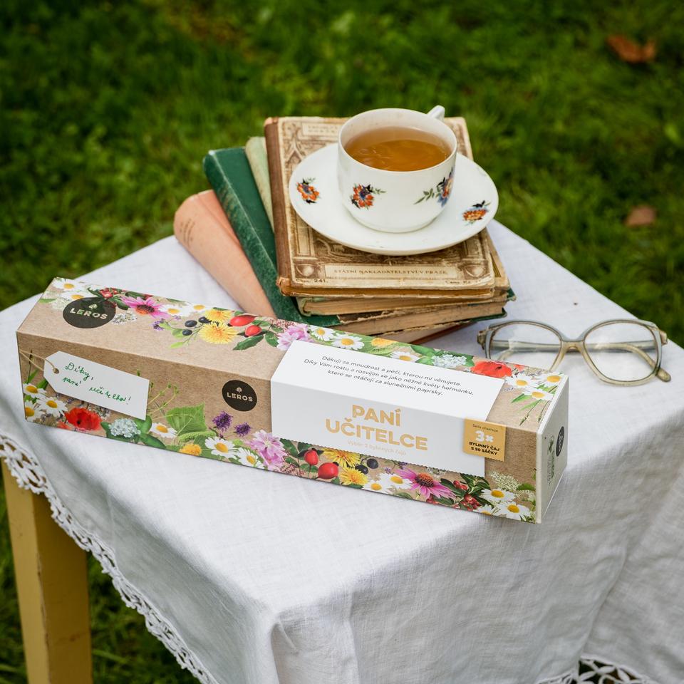 Sada troch bylinkových čajov s miestom na dopísanie vlastnoručného venovania.