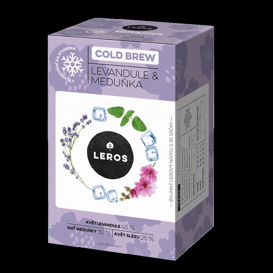 Sada dvou malých hydratačních krémů na ruce živel Vzduch s čajem COLD BREW Levandule & Meduňka