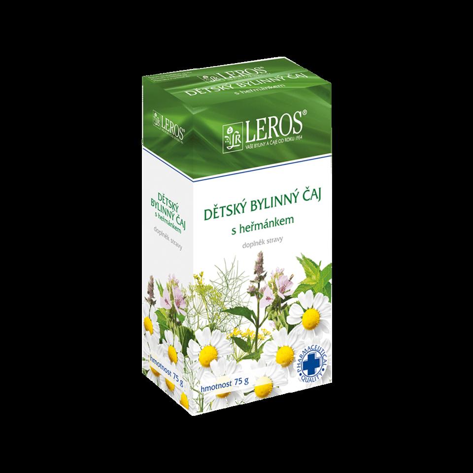LEROS Dětský bylinný čaj s heřmánkem sypaný