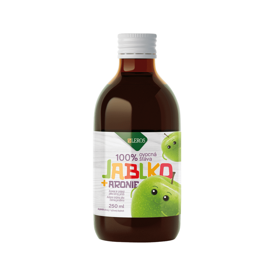 LEROS Dětská 100% šťáva jablíčko s aronií
