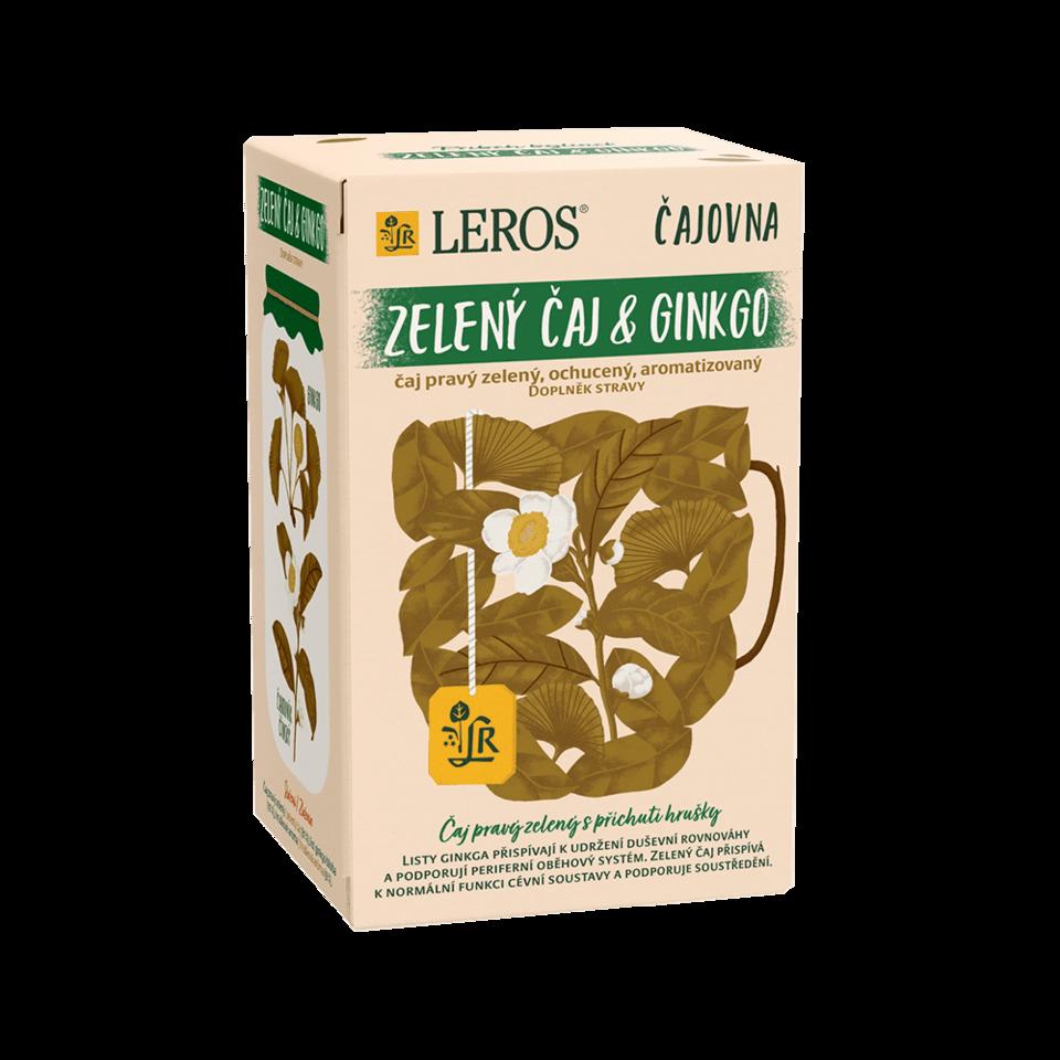 LEROS Zelený čaj & ginkgo