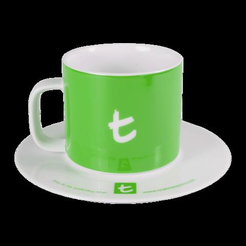 Obrázok produktu PORCELÁNOVÁ ŠÁLKA S PODŠÁLKOU T-SERIES, zelená
