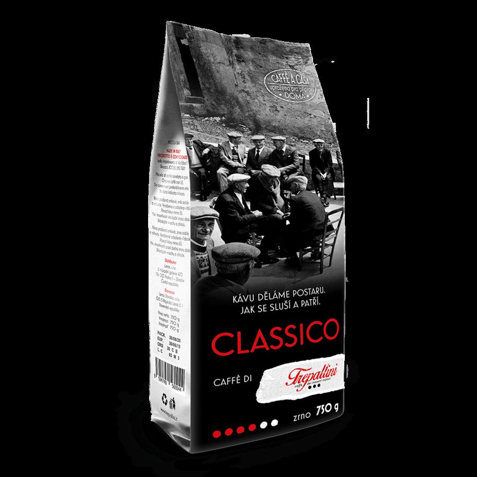TREPALLINI TREPALLINI CLASSICO káva zrnková 750 g