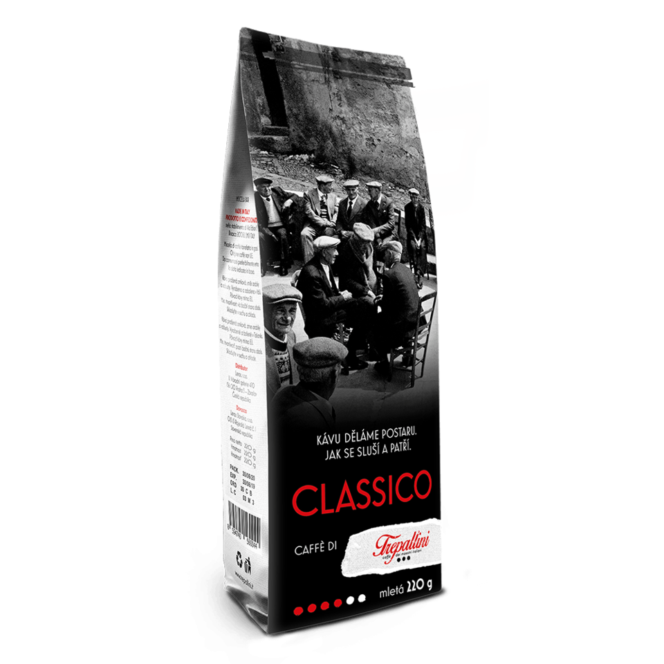 TREPALLINI TREPALLINI CLASSICO káva mletá 220 g