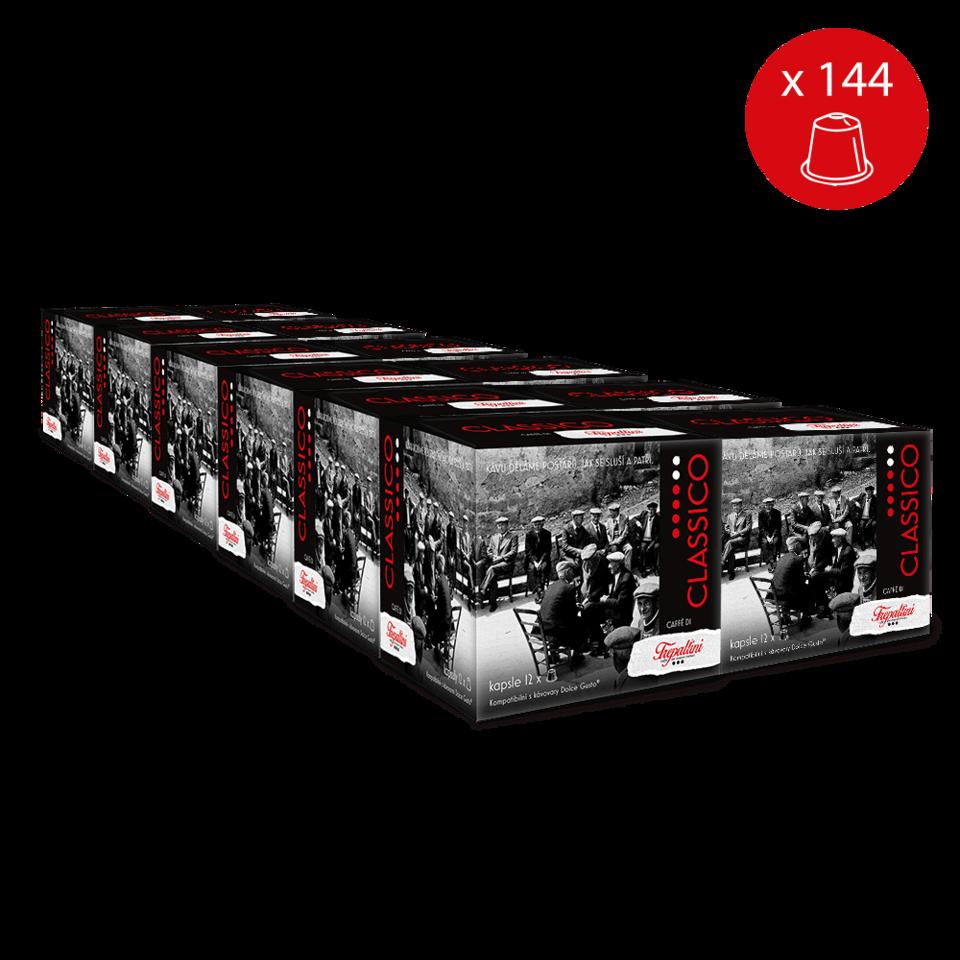 TREPALLINI Balíček 12× TREPALLINI CLASSICO kapsle pro kávovary Dolce Gusto