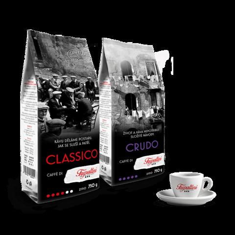 TREPALLINI TREPALLINI 2x zrnková káva 750 g + šálek zdarma